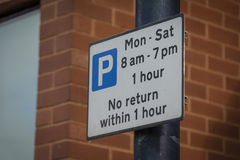 Sign, Permit Holders Only. Outside private car park. UK Royalty Free Stock Photos