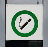 Sign permitting Smoking Stock Images