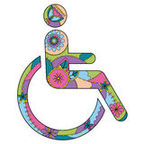 Sign of Persons with Disabilities colorful stock illustration