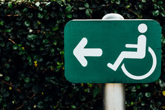 Sign for persons with disabilities Stock Images