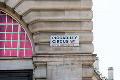 Sign Piccadilly Circus Royalty Free Stock Photo