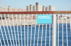 Sign on pier ,Coney island Stock Images