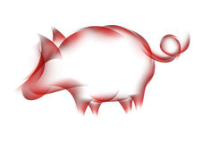 Sign pig Royalty Free Stock Images