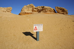 Sign at Pinnacles Desert Stock Image