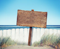 Sign Placard Empty Banner Plank Timber Tranquil Concept Stock Images