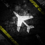 Sign plane  grunge background textured Royalty Free Stock Photography