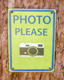 Sign of please take photo Royalty Free Stock Photography