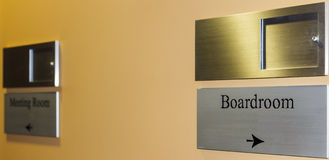 Sign pointing to the Boardroom, Royalty Free Stock Photography