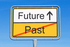 Sign pointing to the future Royalty Free Stock Photography
