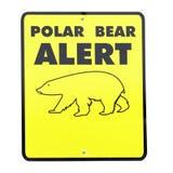 Sign POLAR BEAR ALERT Royalty Free Stock Image