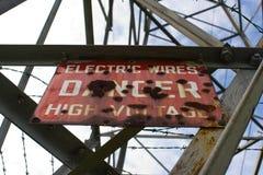 Sign on pole Stock Photo