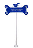 The Sign pole of dog toilet Royalty Free Stock Images