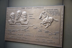 Sign the pony express Stock Photos