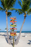 Sign Post with Beach Background Royalty Free Stock Image