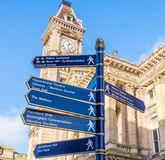 Sign Post Chamberlain Square Birmingham Stock Photos