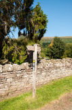 Sign post in the countryside. A sign post in the English countryside Stock Photography
