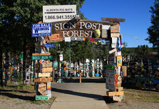 Sign Post Forest, Watson Lake, Yukon, Canada Stock Photos