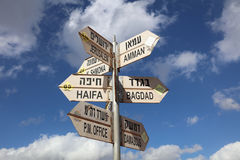 Sign Post at Golan Heights Royalty Free Stock Images