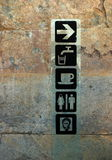 Sign Post In Persepolis, Iran Royalty Free Stock Images