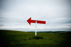 Sign Post Left Stock Photography