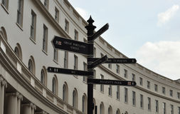 Sign post in London Royalty Free Stock Photos
