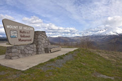 Sign post at Mt. St. Helen's state park. Royalty Free Stock Image