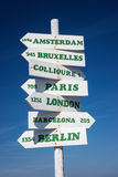 A Sign Post near Collioure in Southern France Stock Photography