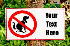 The Sign post of no dog shit Royalty Free Stock Photos
