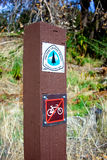 Sign Post for Pacific Crest Trail Stock Photography