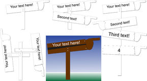Sign post pointing. Pole with sign post pointing towards destinations Royalty Free Stock Photo