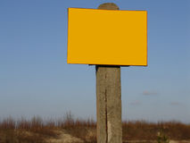 Sign post -  ready to fill in Royalty Free Stock Images