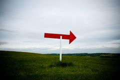 Sign Post Right royalty free stock images