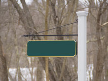Signpost. Sign post to new house development Stock Photography