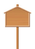 Sign Post Wooden House Shape Symbol Royalty Free Stock Photos