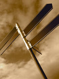 Sign Posts. Sepia Sign Posts Stock Images