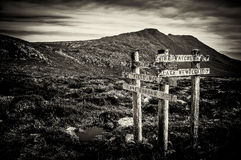 Sign Posts at Mt Field, Tasmania, Australia. Sign posts at Mt Field National Park, Tasmania, Australia Stock Images