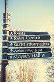 Sign posts to places in Bury St Edmunds Stock Photos