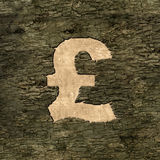 Sign pound on bark Stock Photos