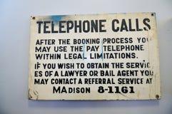 Sign in prison Stock Photo