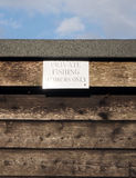 Sign Private Fishing, Stirling University Stock Images