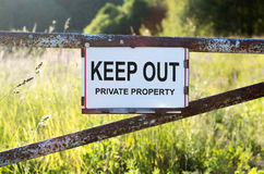 Sign Private Property Royalty Free Stock Photography
