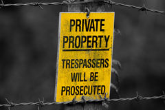 Sign private property Royalty Free Stock Images