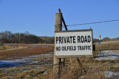 Sign:Private Road Royalty Free Stock Images