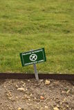 Prohibited lawn sign. Royalty Free Stock Images