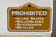 Sign Prohibiting certain acts in a public place Stock Photography