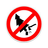 Sign prohibiting chop trees Stock Images