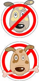 Sign prohibiting dogs Royalty Free Stock Image
