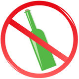 Sign prohibiting drink Stock Photo