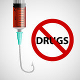Sign prohibiting drugs. Royalty Free Stock Photography