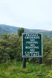 A sign prohibiting entry to a nature reserve Royalty Free Stock Images